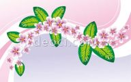 Cover Page Green Flowers 24 Background Wallpaper