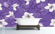 Flower Wallpaper Bathroom 8 Wide Wallpaper