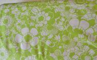 Green Flowers In Fabric 11 Desktop Background