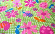 Green Flowers In Fabric 12 Hd Wallpaper