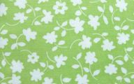 Green Flowers In Fabric 23 Background