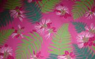 Green Flowers In Fabric 32 Desktop Wallpaper