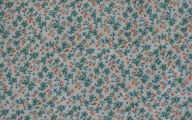 Green Flowers In Fabric 5 Free Wallpaper