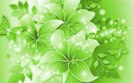 Green Flowers Wallpaper 10 Background Wallpaper