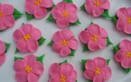 Pink Flowers Cake Decoration 15 Desktop Background
