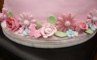 Pink Flowers Cake Decoration 26 Desktop Background