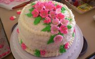 Pink Flowers Cake Icing 17 Background