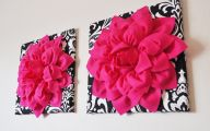 Pink Flowers Wall Decoration 10 Background Wallpaper