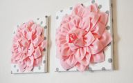 Pink Flowers Wall Decoration 12 Wide Wallpaper