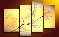 Pink Flowers Wall Decoration 28 Widescreen Wallpaper