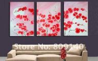 Pink Flowers Wall Decoration 30 Background Wallpaper