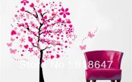 Pink Flowers Wall Decoration 36 Background Wallpaper