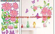 Pink Flowers Wall Decoration 38 Desktop Background