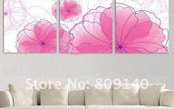 Pink Flowers Wall Decoration 5 Desktop Wallpaper