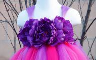 Purple Flowers Dress 15 Wide Wallpaper