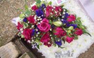 Purple Flowers In Funeral 14 Background Wallpaper