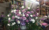 Purple Flowers In Funeral 15 Wide Wallpaper