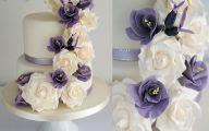 Purple Flowers Wedding Cake 20 Background Wallpaper