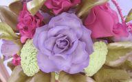 Purple Flowers Wedding Cake 28 Background Wallpaper
