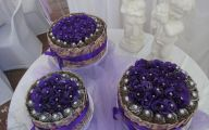Purple Flowers Wedding Cake 32 Background Wallpaper
