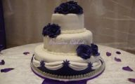 Purple Flowers Wedding Cake 38 Cool Wallpaper
