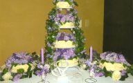 Purple Flowers Wedding Cake 7 Hd Wallpaper