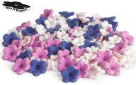 Purple Flowers Wedding Cake 8 Widescreen Wallpaper