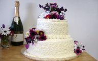 Purple Flowers Wedding Cake 9 High Resolution Wallpaper