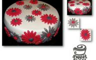 Red Flowers Cake Decoration 15 Wide Wallpaper