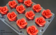 Red Flowers Cake Decoration 19 Desktop Background