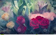 Red Flowers In A Plastic 33 Cool Hd Wallpaper