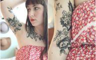 Tattoo Black Flowers 21 Cool Hd Wallpaper