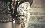 Tattoo Black Flowers 24 Cool Hd Wallpaper