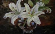 White Flowers Paintings 35 Background