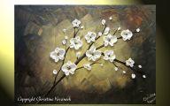White Flowers Paintings 6 Desktop Background
