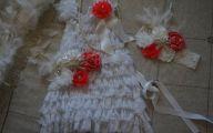 White Flowers Pin Dress 17 Wide Wallpaper