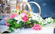 White Flowers Wedding Car 1 Free Wallpaper