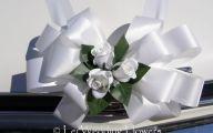 White Flowers Wedding Car 12 High Resolution Wallpaper