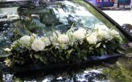 White Flowers Wedding Car 15 High Resolution Wallpaper
