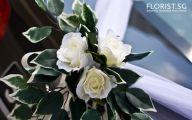 White Flowers Wedding Car 19 Widescreen Wallpaper
