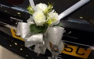 White Flowers Wedding Car 3 Hd Wallpaper