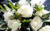 White Flowers Wedding Car 9 Wide Wallpaper