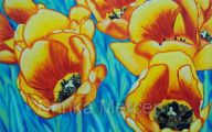 Yellow Flowers In Canvass 29 Cool Hd Wallpaper