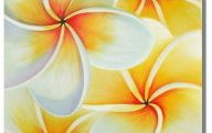Yellow Flowers In Canvass 9 Widescreen Wallpaper