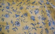 Yellow Flowers In Fabric 19 Widescreen Wallpaper