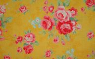 Yellow Flowers In Fabric 2 Free Wallpaper
