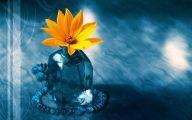 Yellow Flowers Vase 12 Background