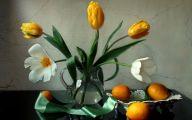 Yellow Flowers Vase 20 Background