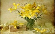 Yellow Flowers Vase 9 Desktop Background