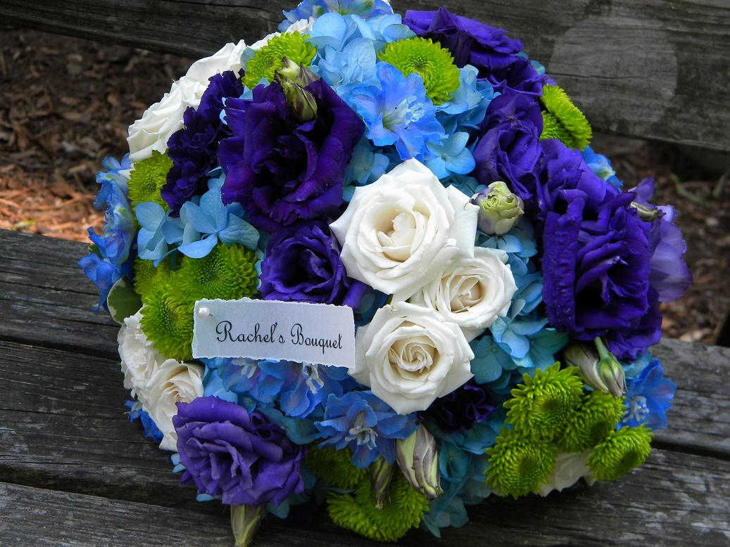 Beautiful Blue And Green Wedding Flowers Contemporary - Styles ...
